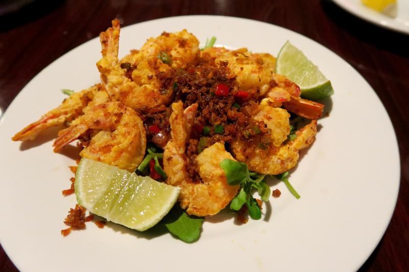 Szechuan pepper shrimp at Nine Roses in Gretna, La.