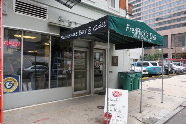 The longtime deli FredRick's is now Bienvenue Bar & Grill.
