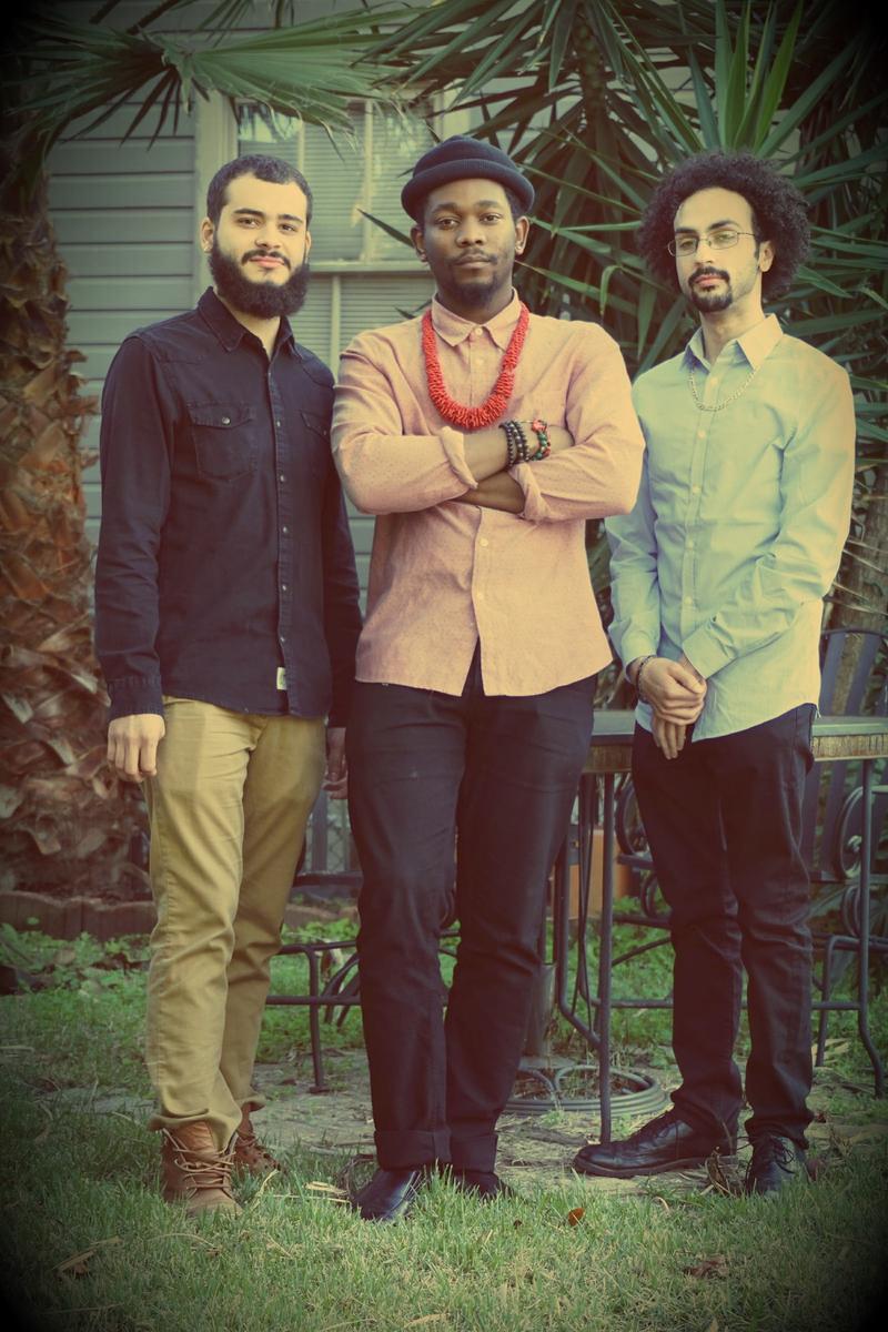 Max Moran (L) bass, Joe Dyson (C) drums, Conun Pappas (R) piano
