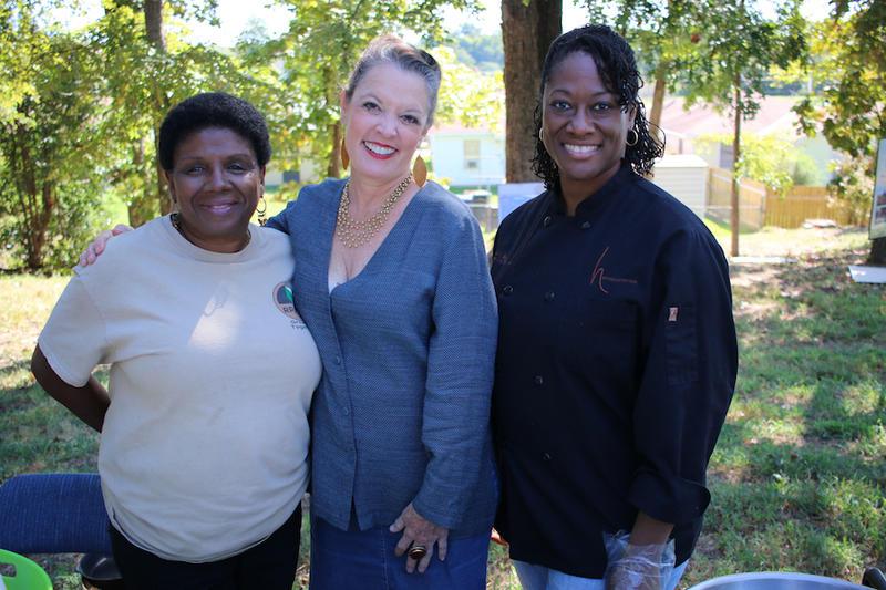 Cookie Coleman, Poppy Tooker and Chef Hardette Harris in Shreveport