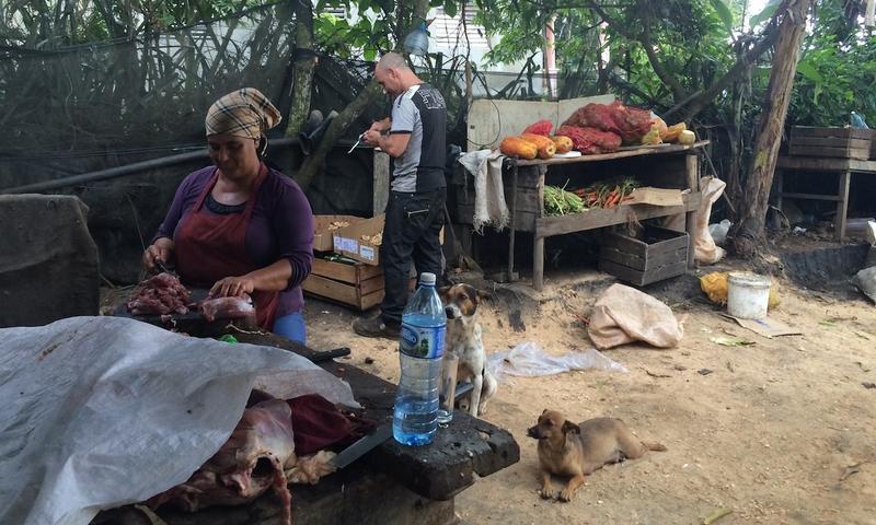 Lunch is prepared at El Paraiso, an organic farm and family-run restaurant in Viñales, Cuba.