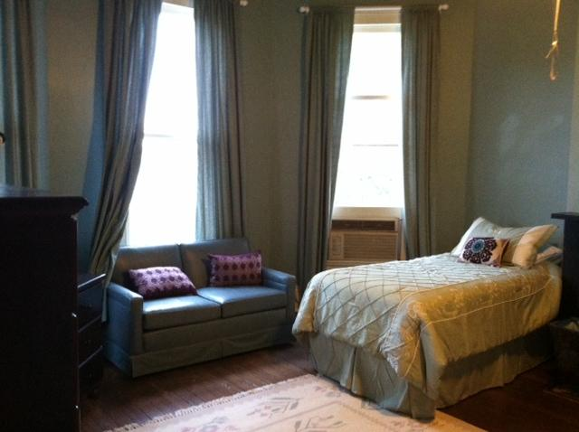 One of the bedrooms for women at Eden House in New Orleans.