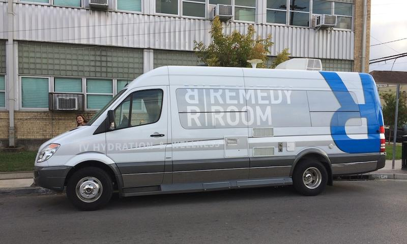 One of The Remedy Room's mobile clinics stationed on a street in New Orleans.