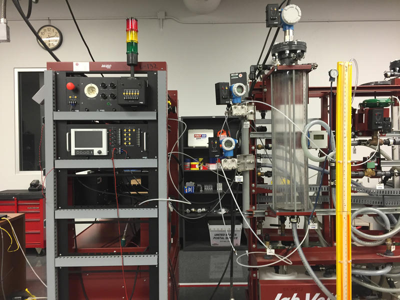 Classroom training equipment in the Oil & Gas Production Technology Department at Bossier Parish Community College. The BPCC program has seen its enrollment down by more than 40% in the current oil downturn.