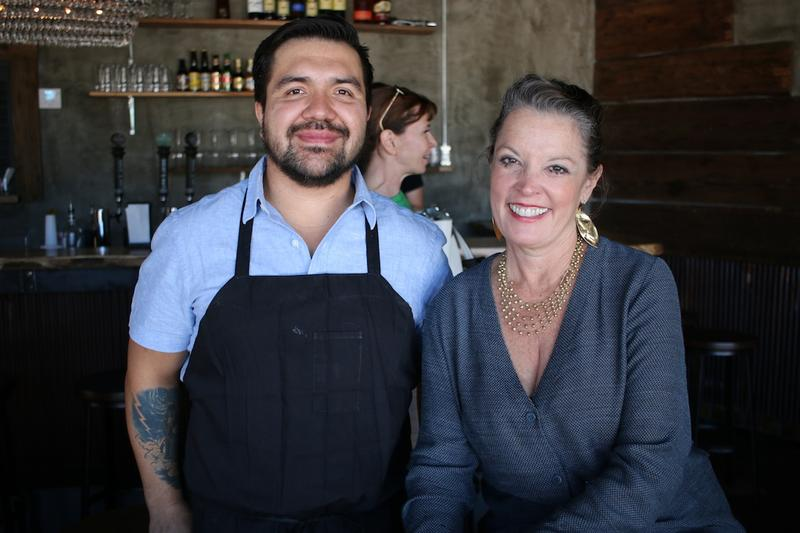 Rodrigo Mondragon and host Poppy Tooker. Rodrigo is co-owner of Ki' Mexico, a Shreveport restaurant he runs with members of his family.