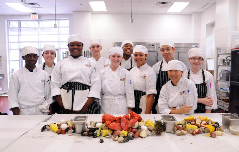 Students participating in NOCCA's Culinary Arts program.