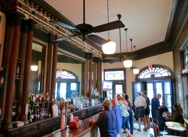 The bar at Tujague's Restaurant, a New Orleans restaurant marking its 160th anniversary.