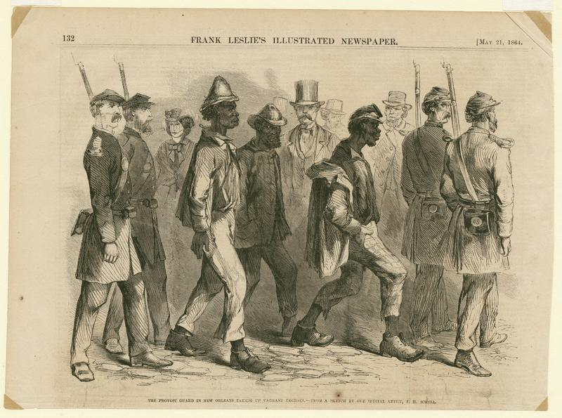 The Provost Guard in New Orleans taking up Vagrant Negroes. (1974.25.9.190)