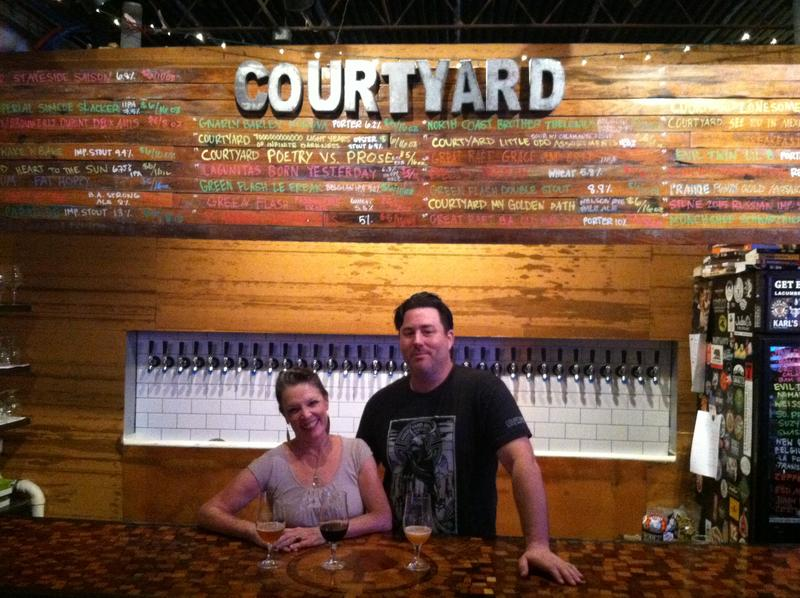 Host Poppy Tooker and Courtyard Brewery owner Scott Wood