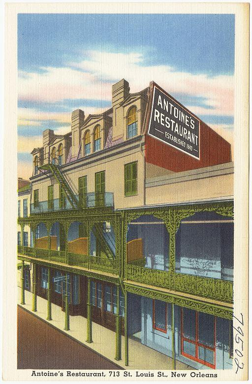 A postcard from Antoine's Restaurant, circa 1930.