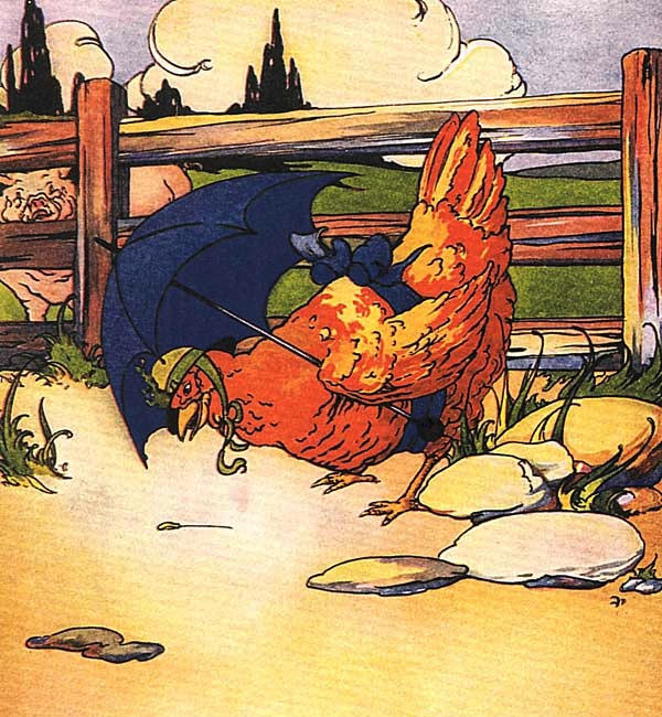 The little Red Hen finds a seed to plant