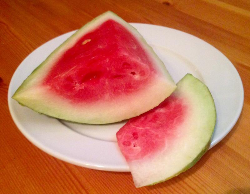 Watermelnon is a symbol of the summer season and relief from it, all under one rind.