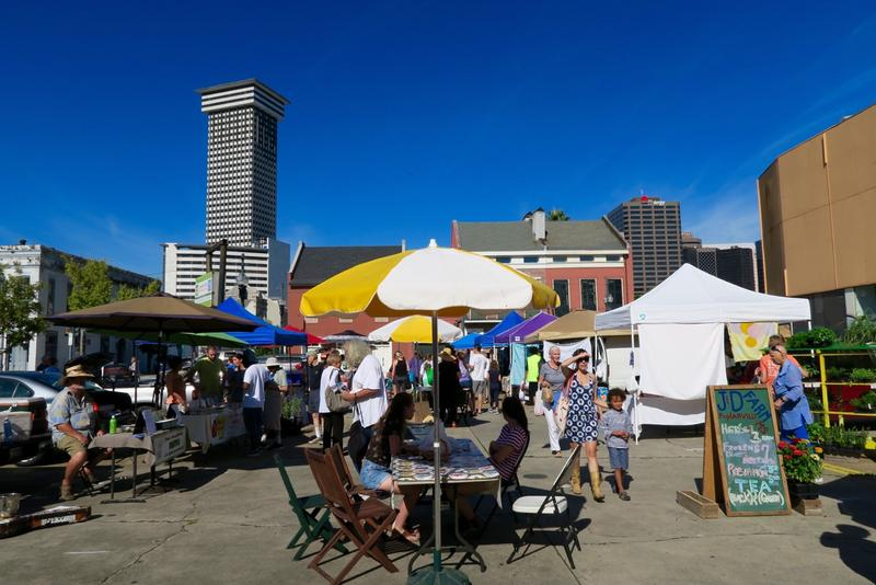 The new Saturday location of the Crescent City Farmers Market is at 750 Carondelet St.