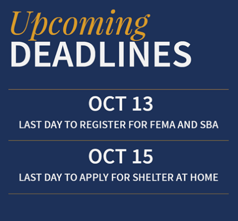 Deadlines for Flood assistance in Louisiana