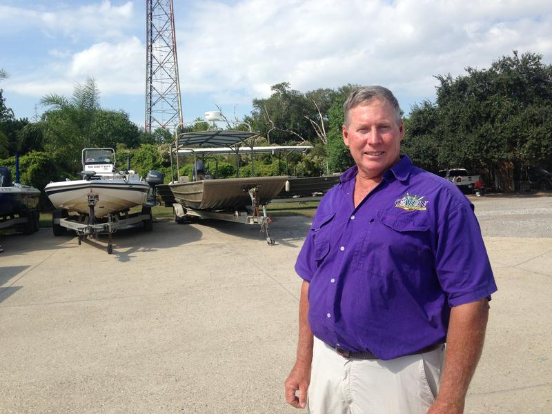 Ryan Lambert commutes about 100 miles from the New Orleans area to his charter fishing business in Buras.