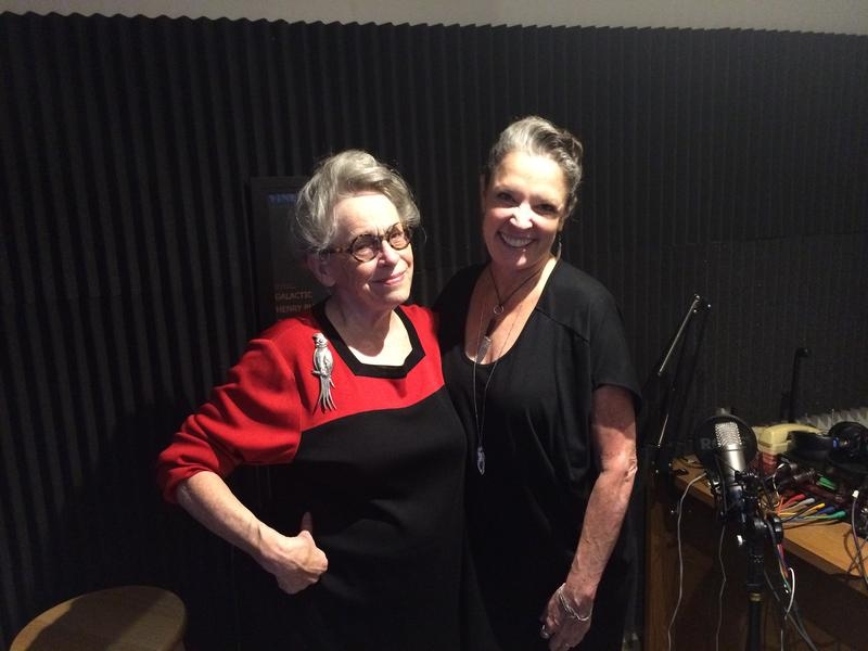 Host Poppy Tooker with JoAnn Clevenger