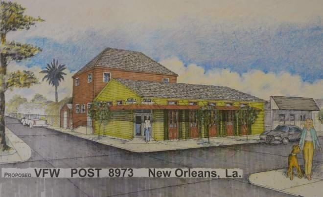 The New Orleans VFW post is planning a major renovation