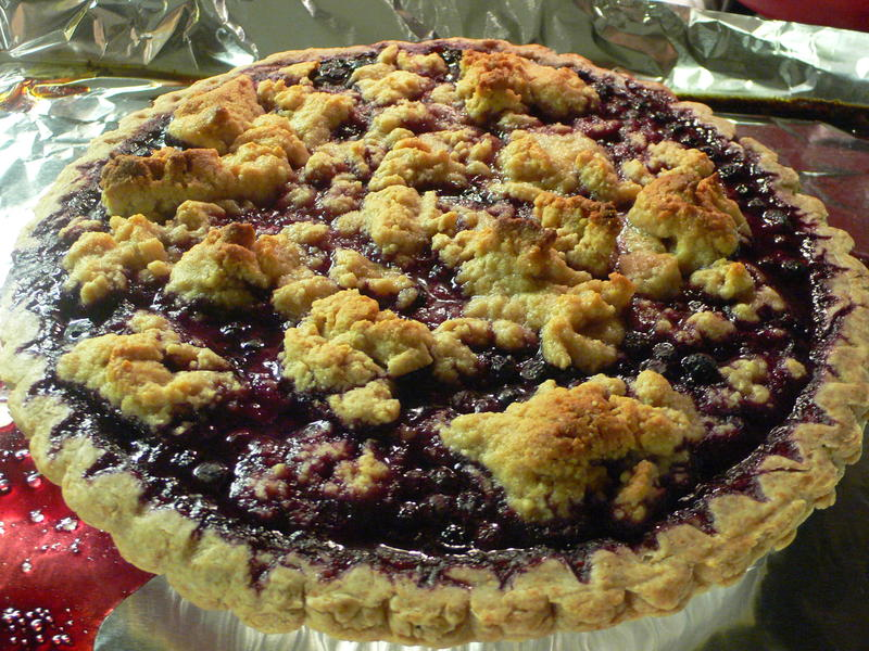 Blueberry and Almond pie