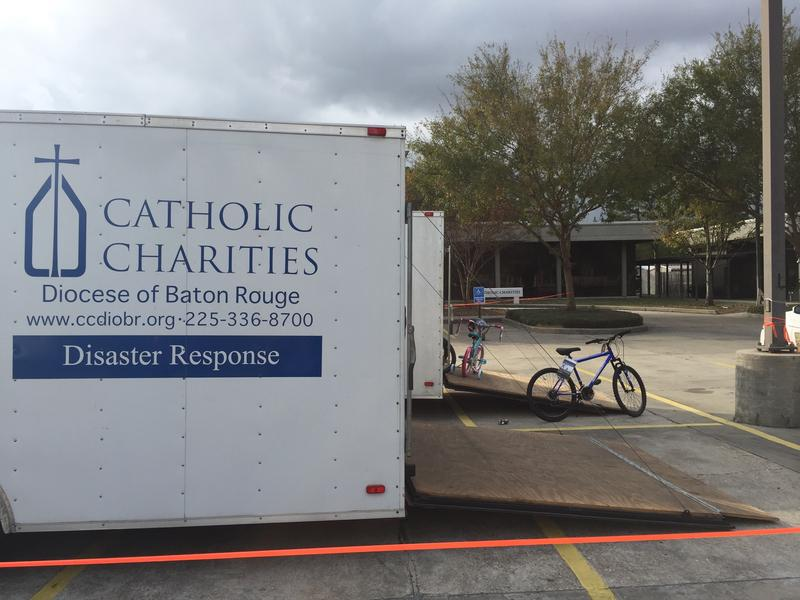Catholic Charities has also helped flood victims cope, especially as Christmas approaches.