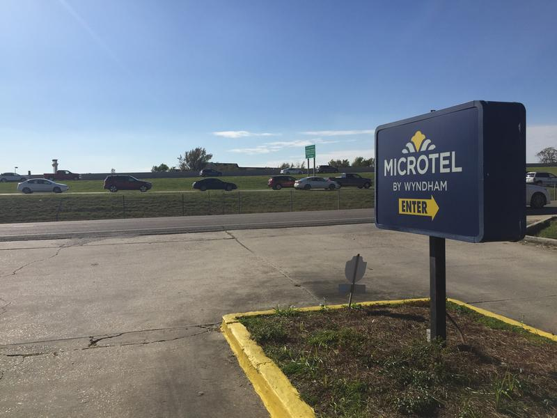 A Microtel off I10 in Baton Rouge has been home to as many as 130 flood affected people since August.