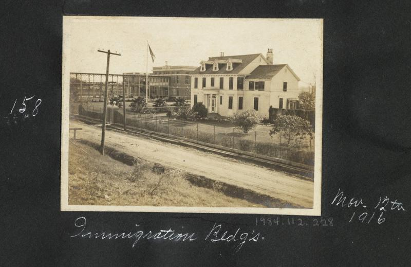 Immigration buildings at what was 'Camp Algiers' circa 1916.