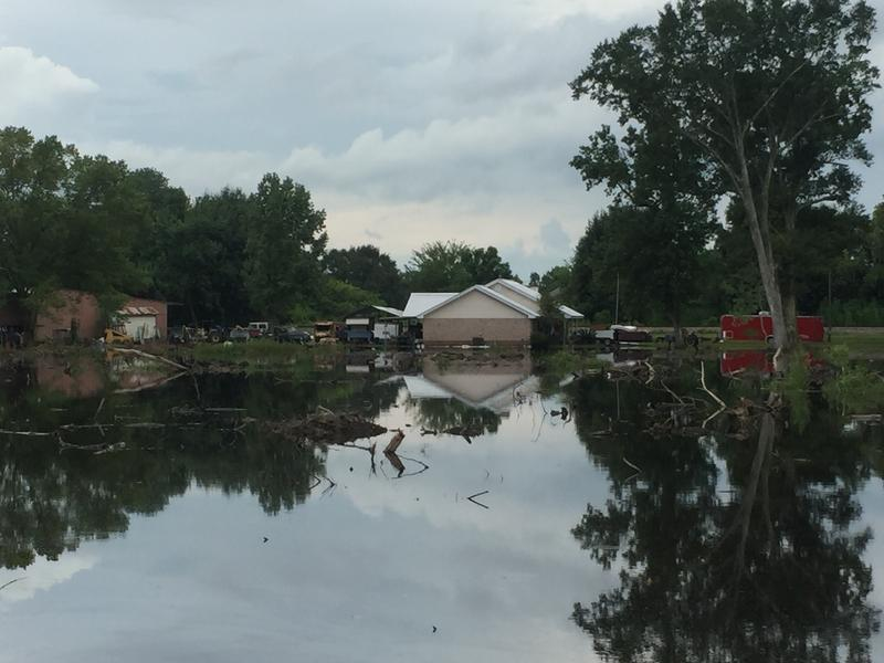 Flooding in Gonzales, Louisiana; August 2016