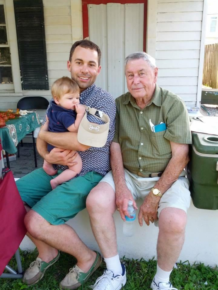 Jacques Hebert and his grandfather, Donald, and nephew Nicholas. Jacques interviewed his grandfather about his experience with flooding.