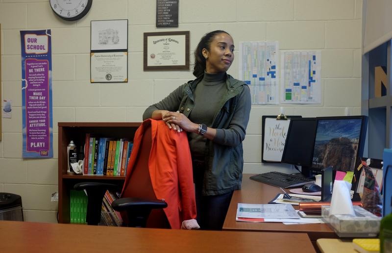 Nicole Boykins is principal at Crocker College Prep. The pre-K through eighth grade school is one of five schools in a program to better serve children who've been exposed to trauma.