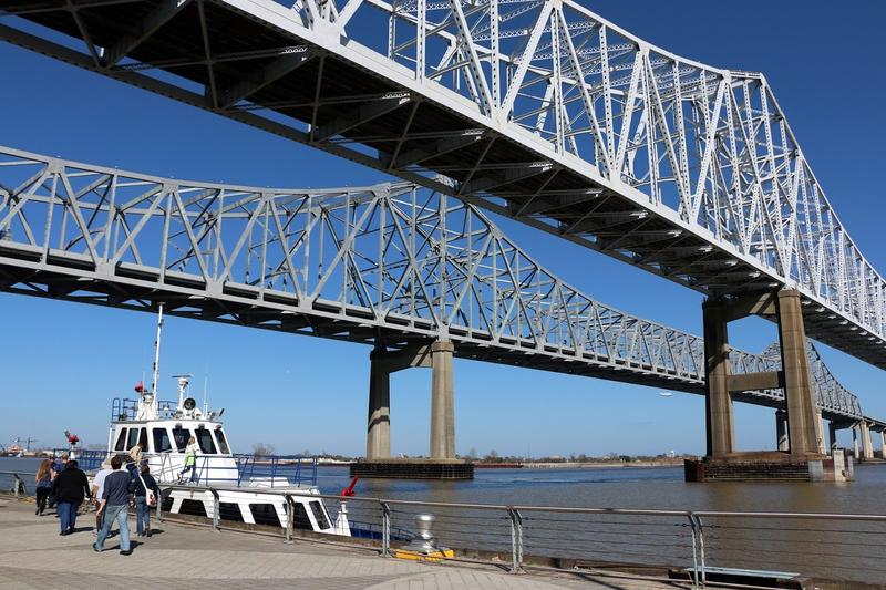 About 15 people gathered for the Coastal Desk tour of the Port of New Orleans on February 10.