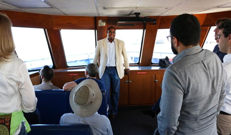 Paul Matthews, the Community Affairs Manager for the Port of New Orleans, lead the tour.