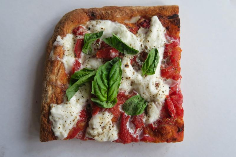 "The ""square pizza"" at Pizza Domenica in New Orleans is made with fresh-milled fllour from Bellegarde Bakery."