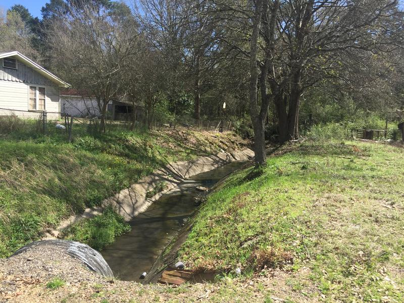 A drainage canal in Denham Springs swelled with flood waters last August and left more than 5 feet of water behind.