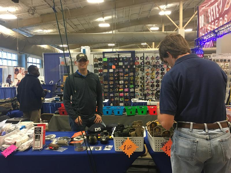 Organizers say about 3,000 people attended the National Preppers and Survivalists expo in Gonzales, Louisiana, where vendors sold everything from freeze-dried sausage to bulletproof vests.
