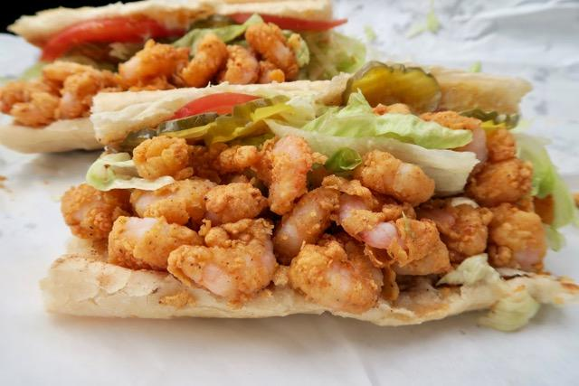 A fried shrimp po-boy from Avery's on Tulane.