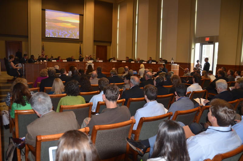 A packed crowd was on hand for the April 19 CPRA Board meeting, where the 2017 Master Plan was approved and sent to the State Legislature, and where the emergency declaration was announced.