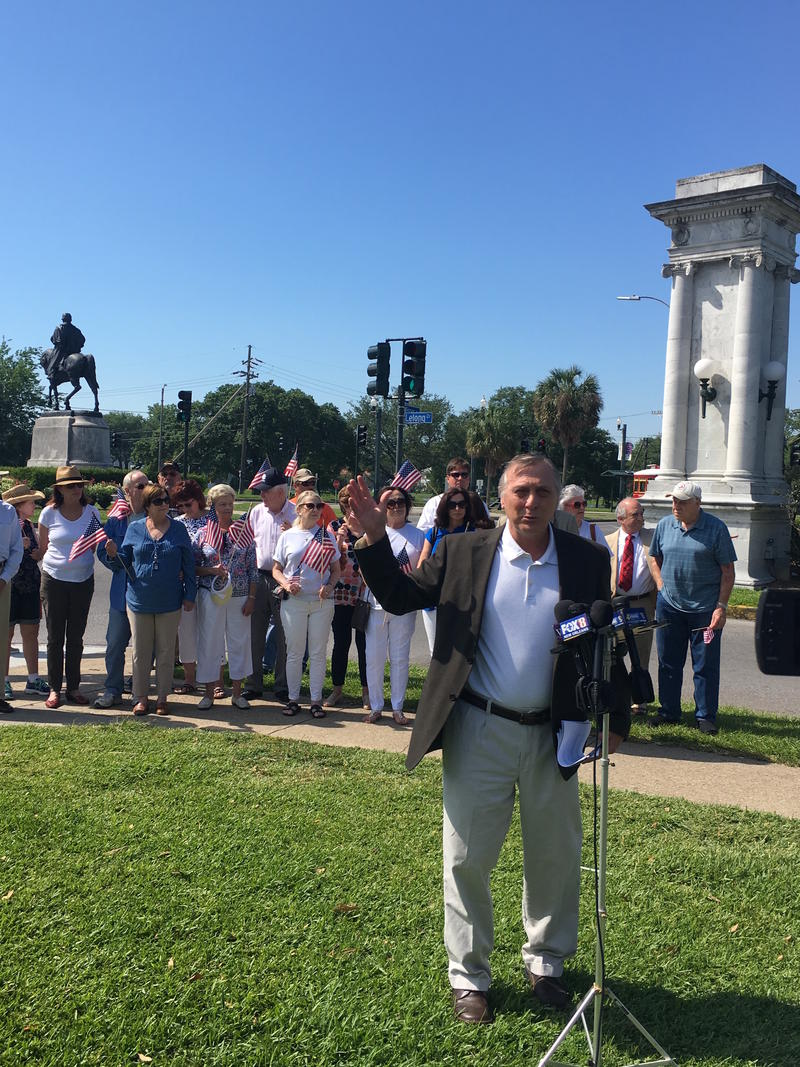 Richard Marksbury, of the Monumental Task Force, says the statute of Confederate General P.G.T. Beauregard is not city property.