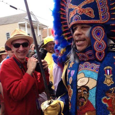 Photographer and historian John McCusker at a second line.