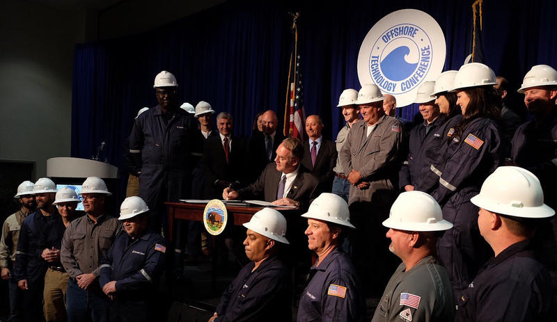 Secretary Zinke signed the orders at the Offshore Technology Conference  in Houston on Monday.