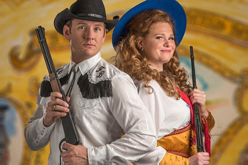 Jason Dowies and Katie Howe co-star in Summer Lyric Theatre's 'Annie Get Your Gun'