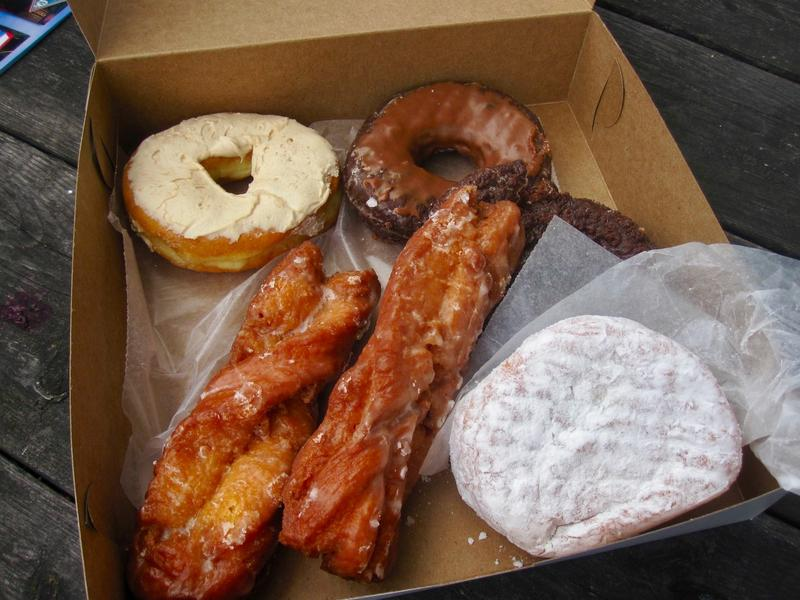 A sampling from Allie's Donuts, a renowned Rhode Island donut shop with a special connection for food writer Ian McNulty.