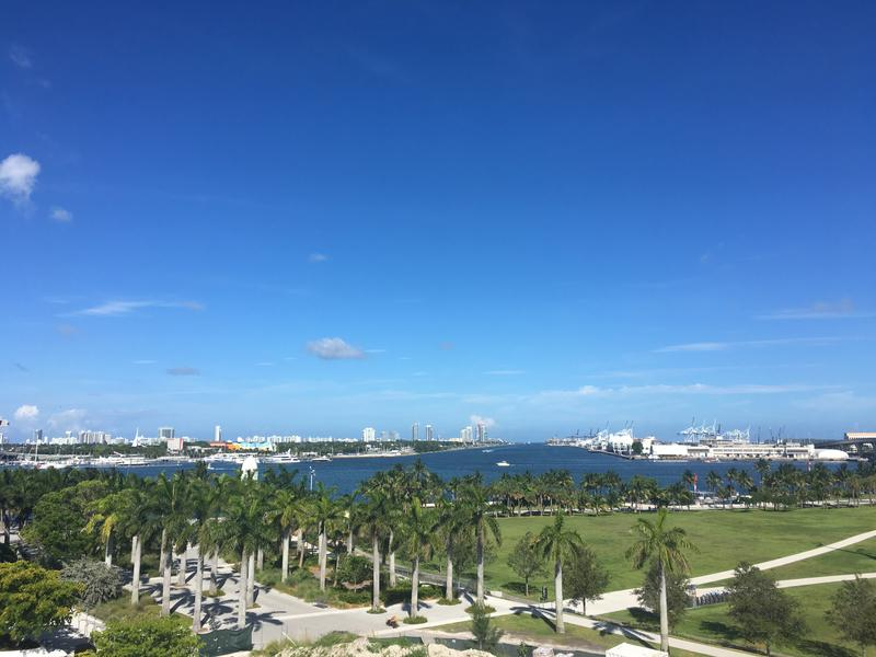 A view of Miami Bay from downtown. The National Oceanic and Atmospheric Administration estimates that sea levels could rise three to six feet by 2100.