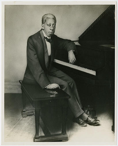 Tony Jackson depicted in a gelatin silver print.