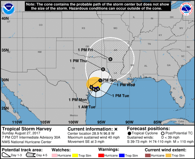 The National Weather Service has issued flood watches and warnings for much of south Louisiana as heavy rains hit the area Sunday night.