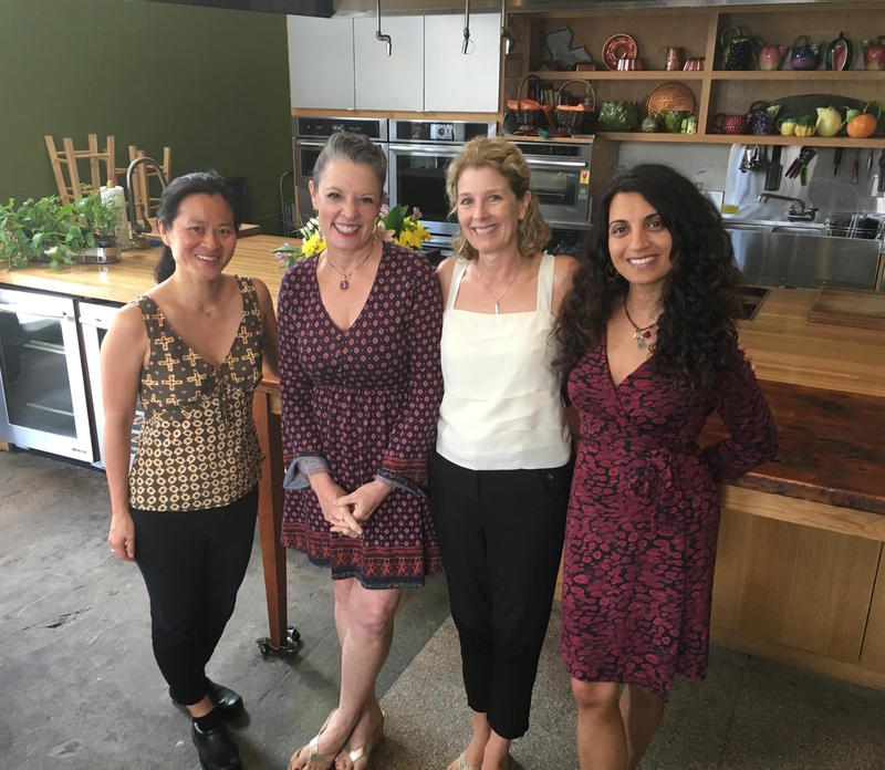 From left to right: Dr. Linda Shiue, Poppy Tooker, Natasha MacAller, and Dr. Geeta Maker-Clark