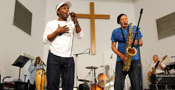 Charles Neville with the Jazzmen at Angola Prison