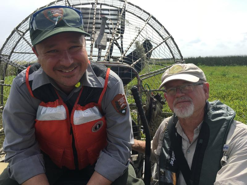 Dusty Pate and David Muth have overseen several canal backfilling projects at Jean Lafitte Barataria Preserve