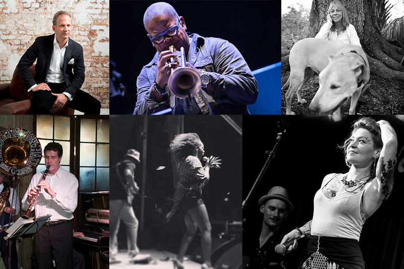Clockwise from upper right: Carlos Miguel Prieto, Terrance Blanchard, Rickie Lee Jones, Meschiya Lake, Erica Falls, Tom Sancton