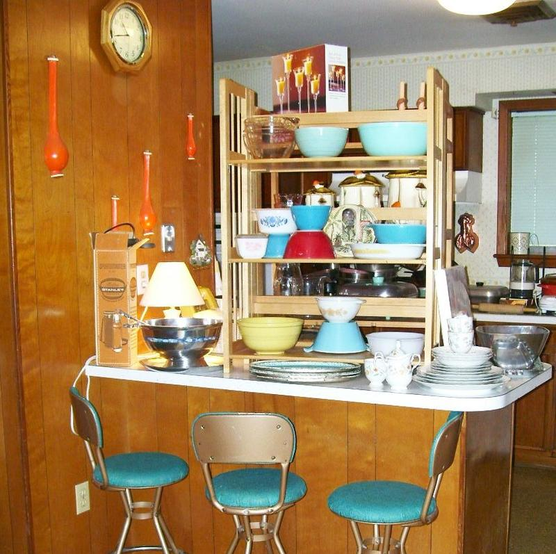 The kitchen at one of Lynda Moreau's sales.