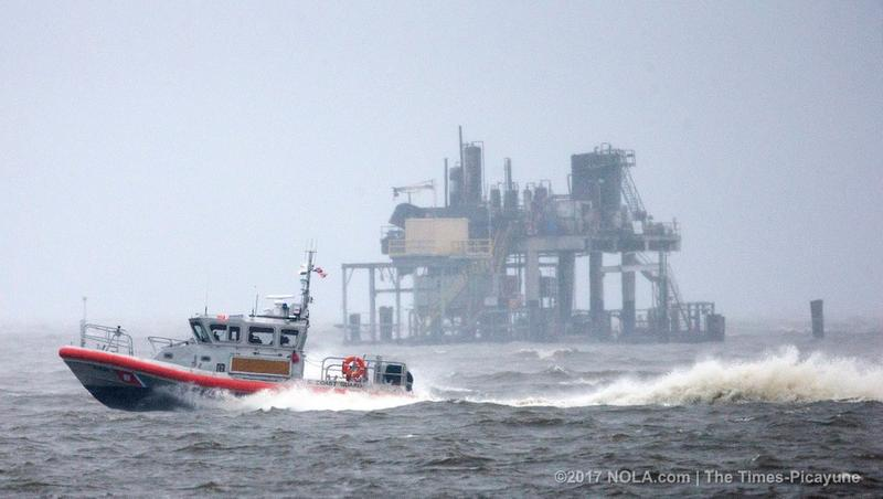 Officials continue to investigate a Sunday fire at an oil and gas platform in Lake Pontchartrain.