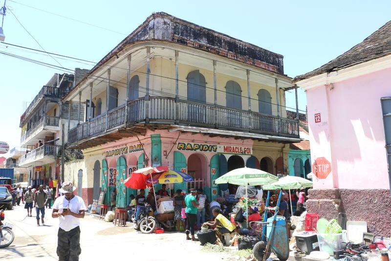 A street scene in Cap-Haïtien, Haiti.
